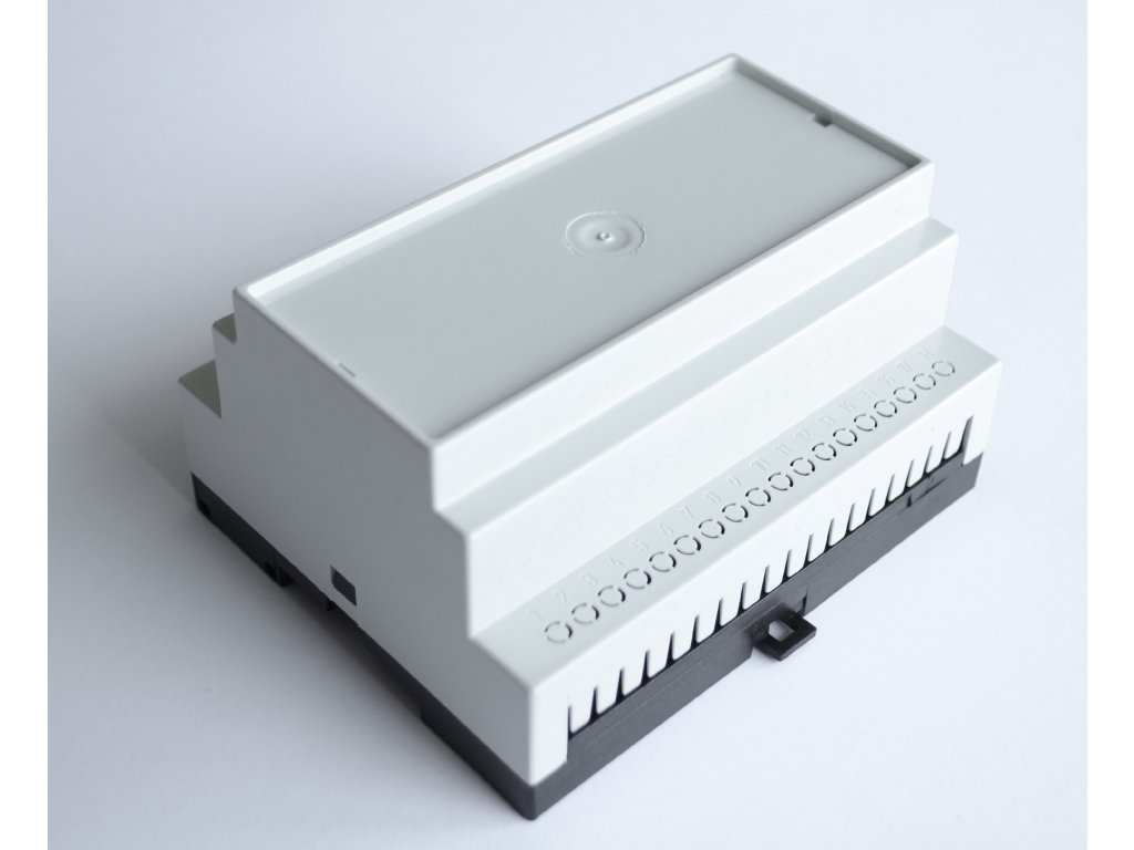 Plastová krabička BKDIN1050 KO/P