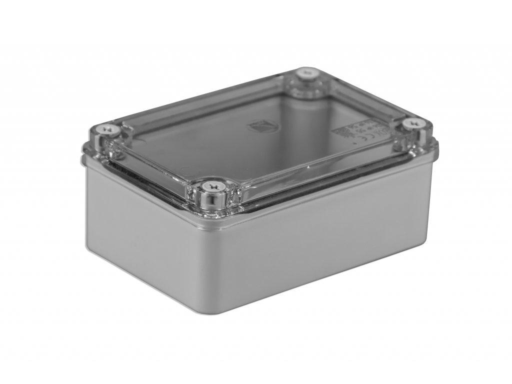 Plastová krabička S-BOX216P, šedá s průhl. víkem