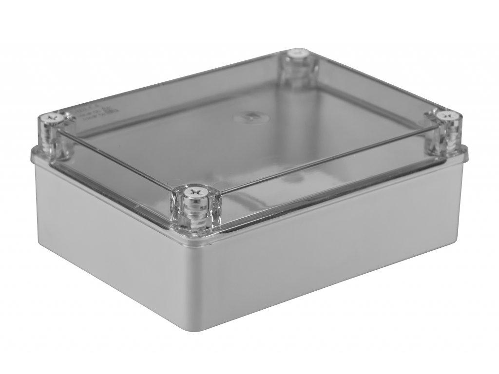 Plastová krabička S-BOX416P, šedá s průhl. víkem