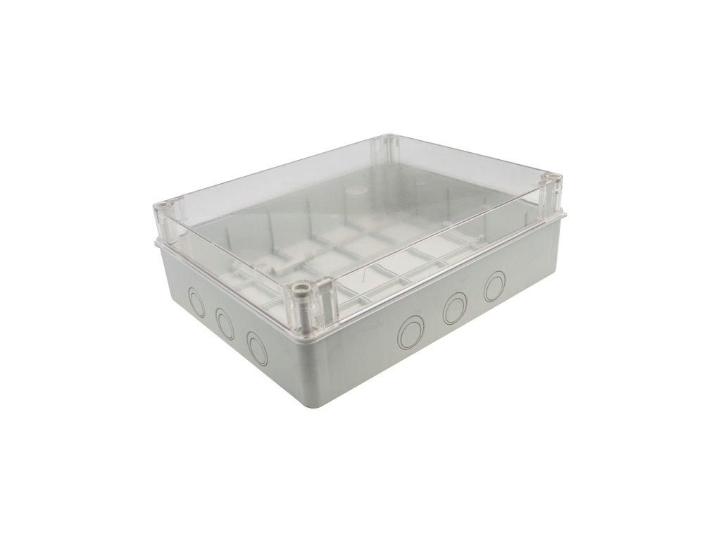 Plastová krabička S-BOX716P, šedá s průhl. víkem