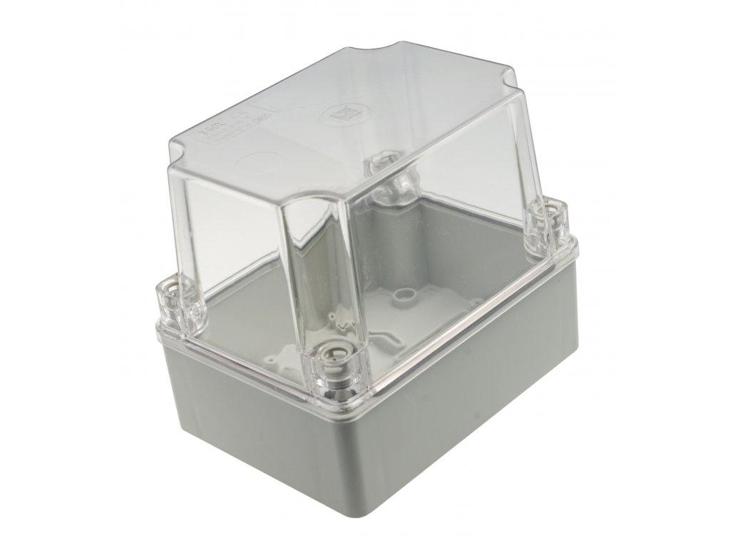 Plastová krabička S-BOX316HP, šedá s průhl. víkem
