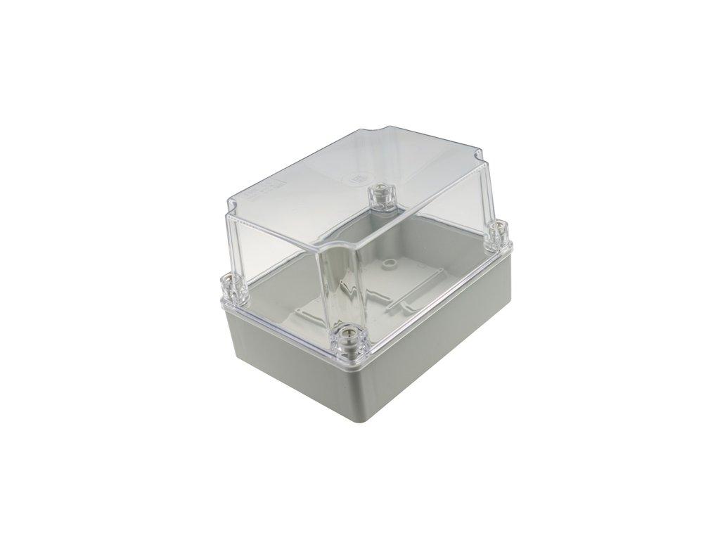 Plastová krabička S-BOX416HP, šedá s průhl. víkem