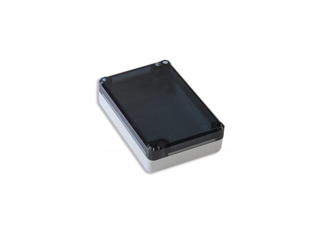 Plastová krabička KM77H TM, šedá, kouřové víko