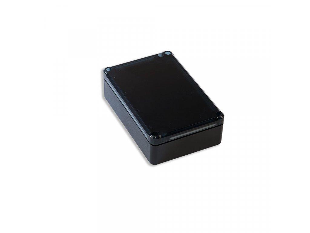 Plastová krabička KM76H TM, černá, kouřové víko