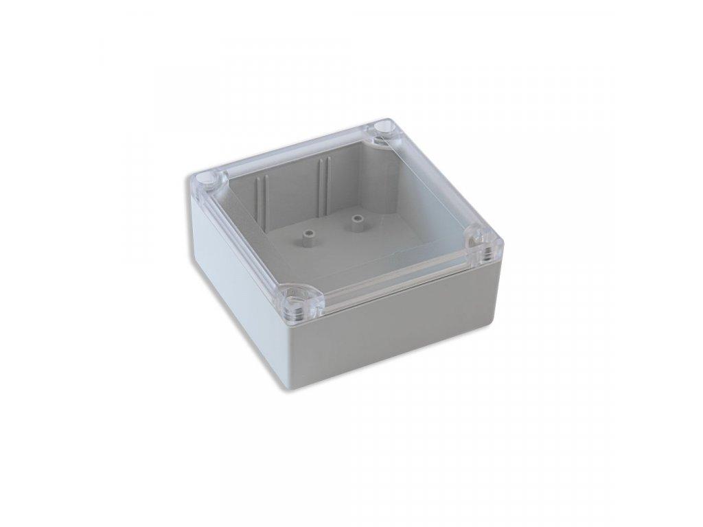 Plastová krabička KM500A, šedá, průhledné víko