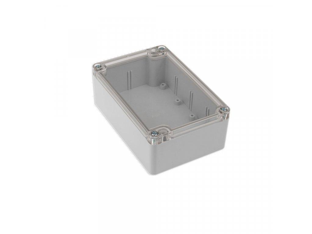 Plastová krabička KM176H TM, šedá, průhledné víko