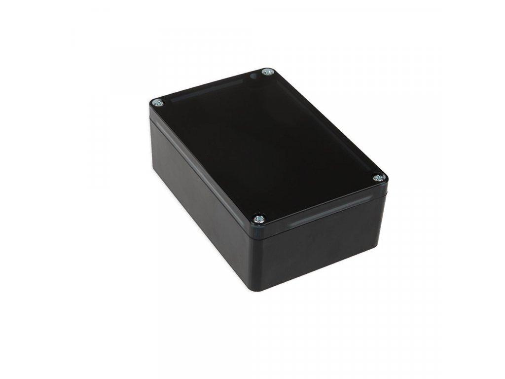 Plastová krabička KM176H TM, černá, kouřové víko