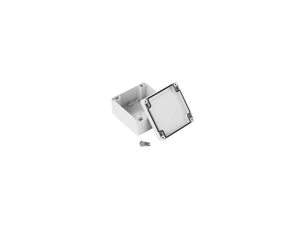 Plastová krabička ZP105.105.60SJ TM, šedá