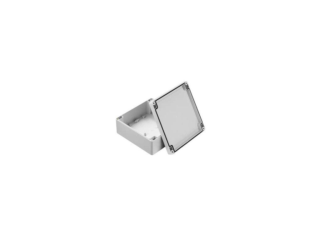 Plastová krabička ZP150.150.60SJ TM, šedá