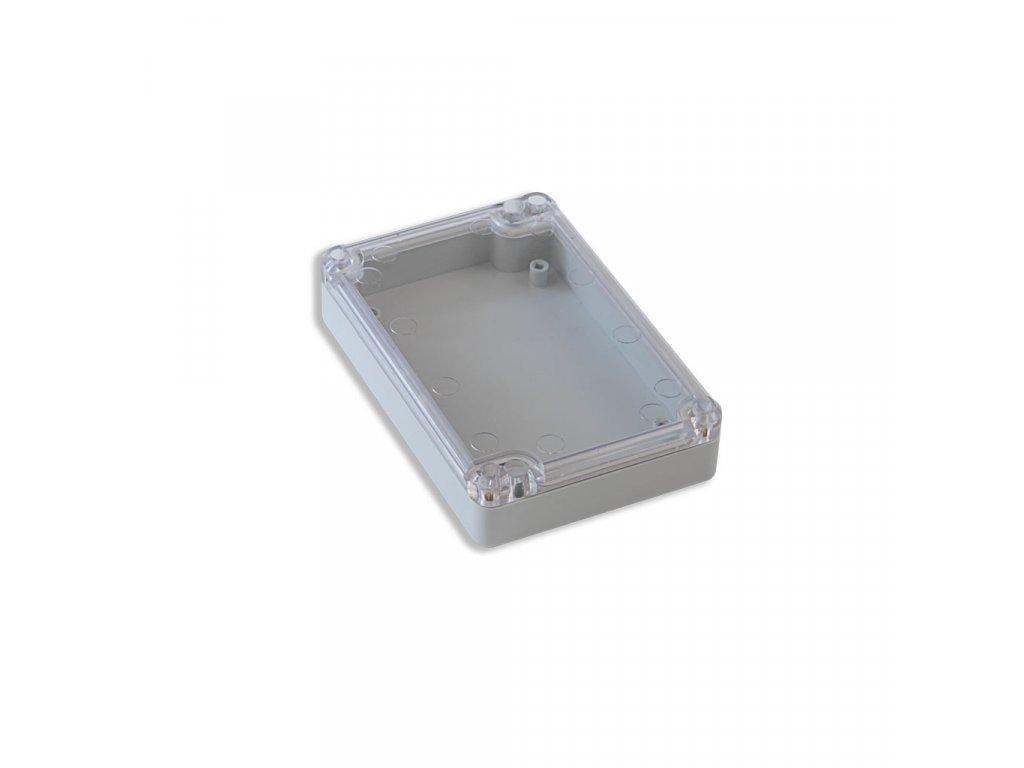 Plastová krabička KM78H TM, šedá, průhledné víko