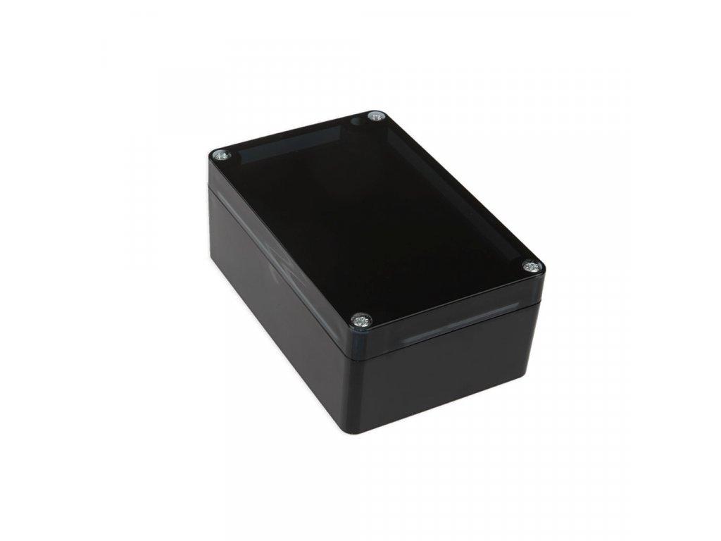 Plastová krabička KM175H TM, černá, kouřové víko