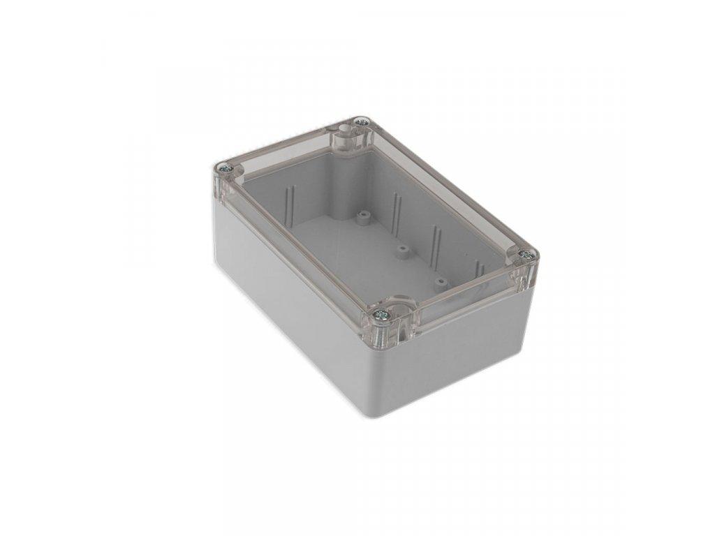 Plastová krabička KM175H TM, šedá, průhledné víko