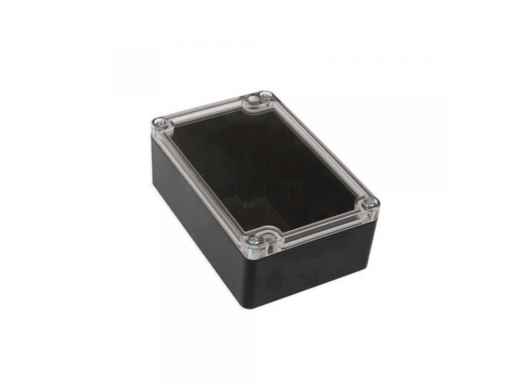 Plastová krabička KM176H TM, černá, průhledné víko