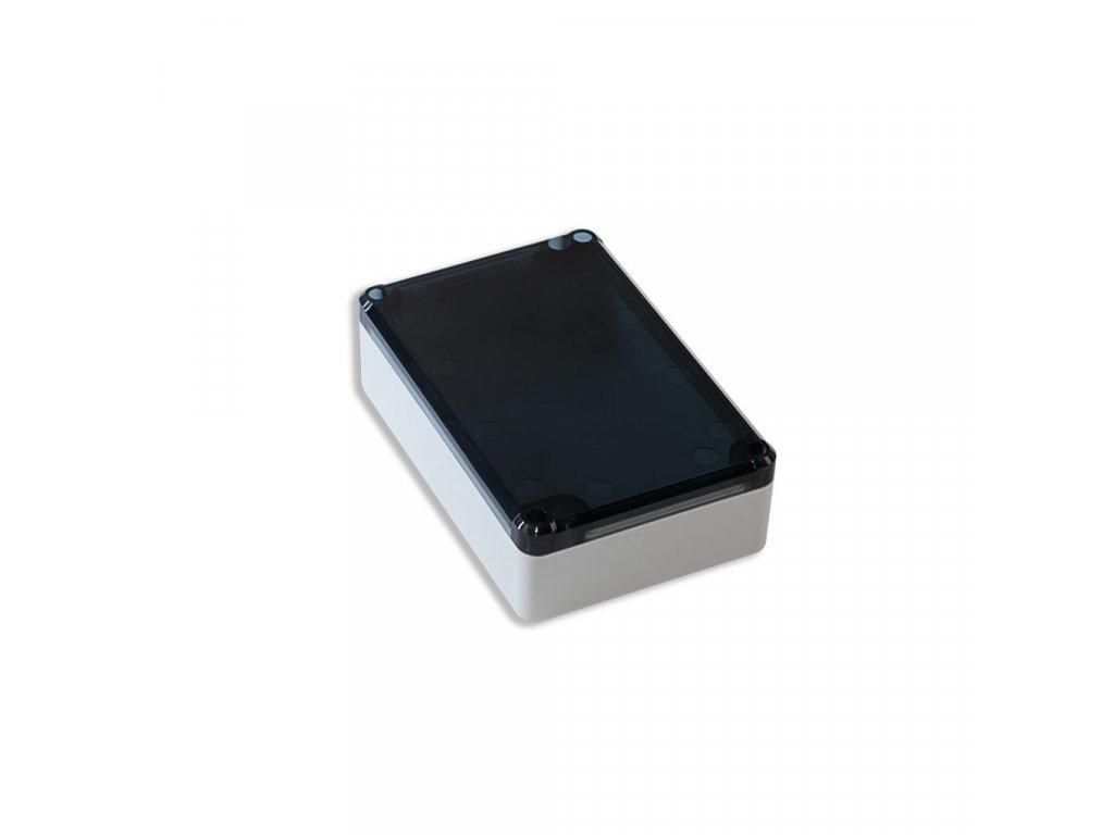 Plastová krabička KM76, šedá, kouřové víko