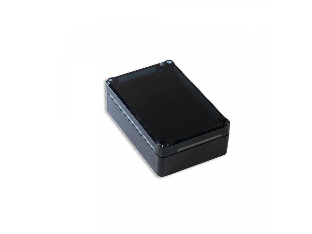 Plastová krabička KM75H TM, černá, kouřové víko
