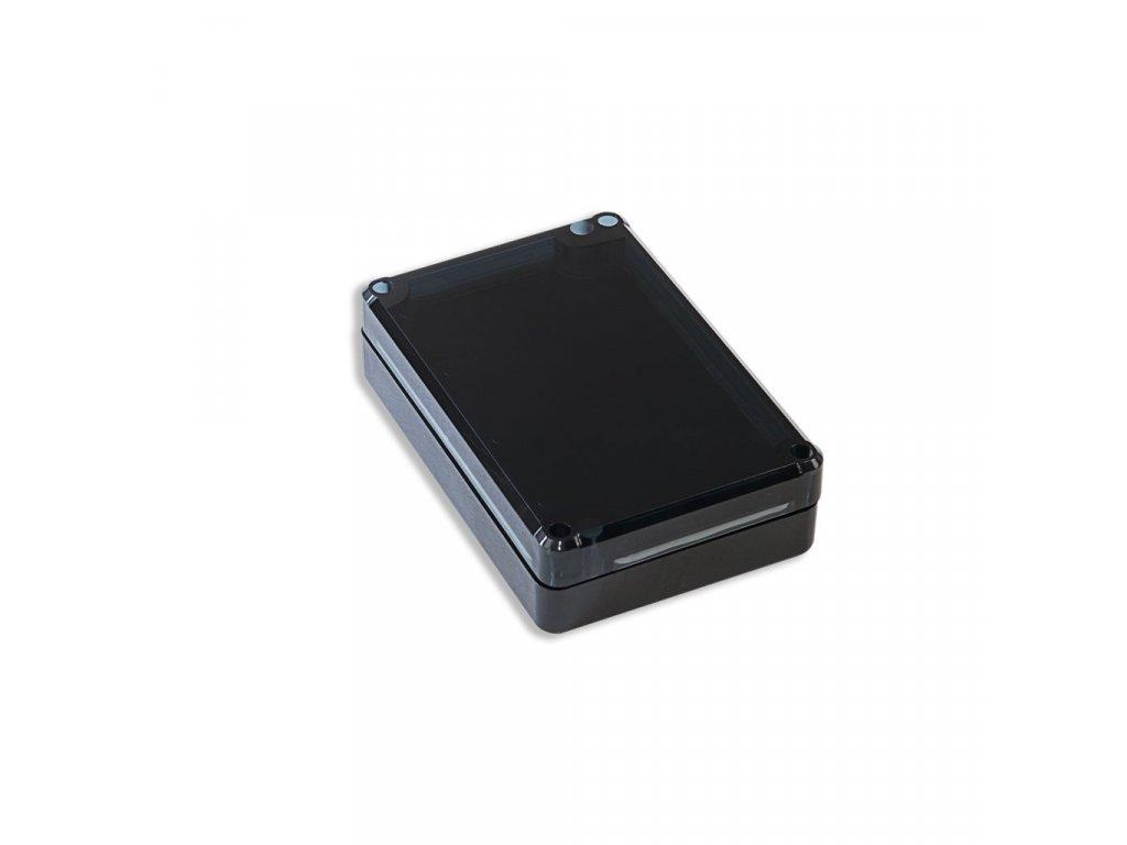 Plastová krabička KM77H TM, černá, kouřové víko
