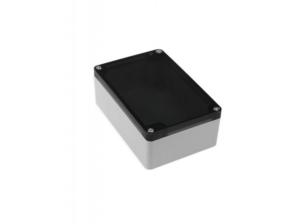 Plastová krabička KM176, šedá, kouřové víko