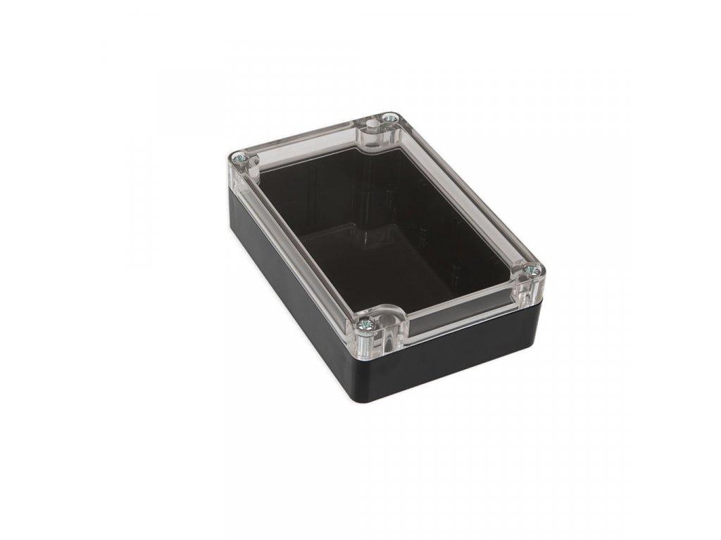 Plastová krabička KM177, černá, průhledné víko