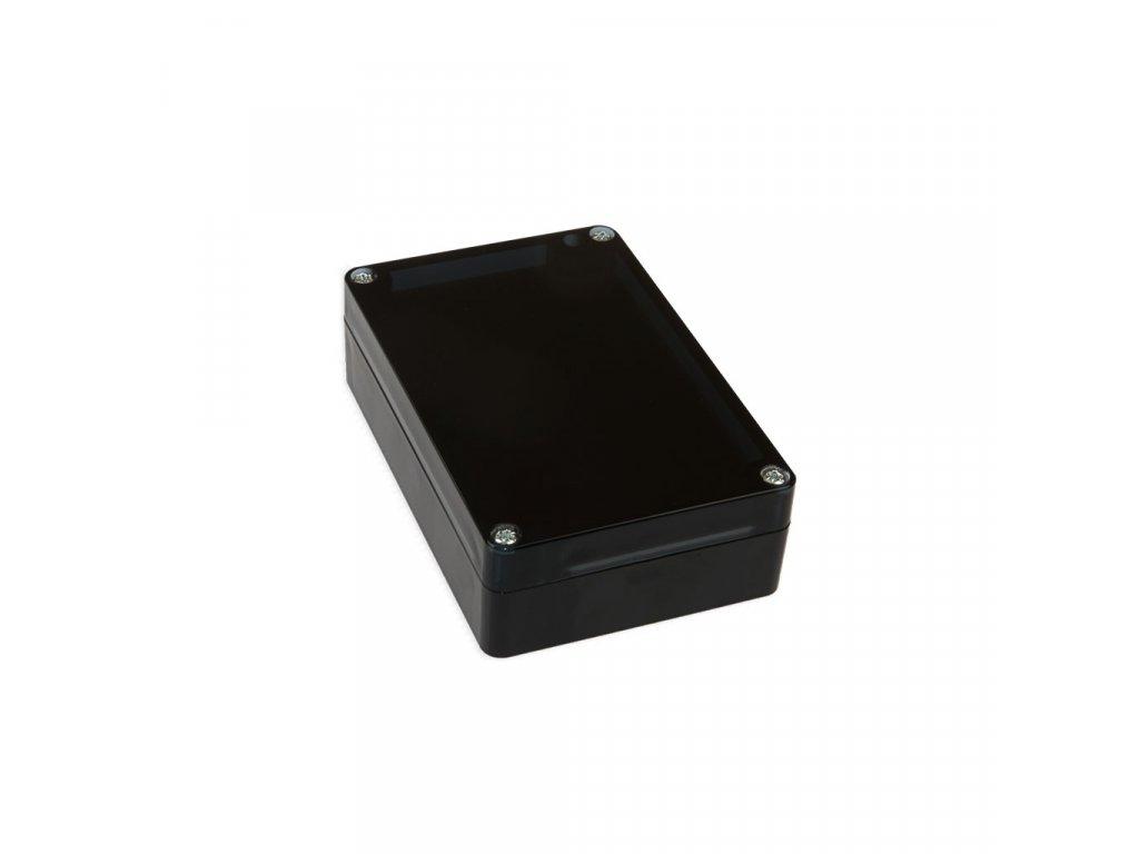 Plastová krabička KM177H TM, černá, kouřové víko