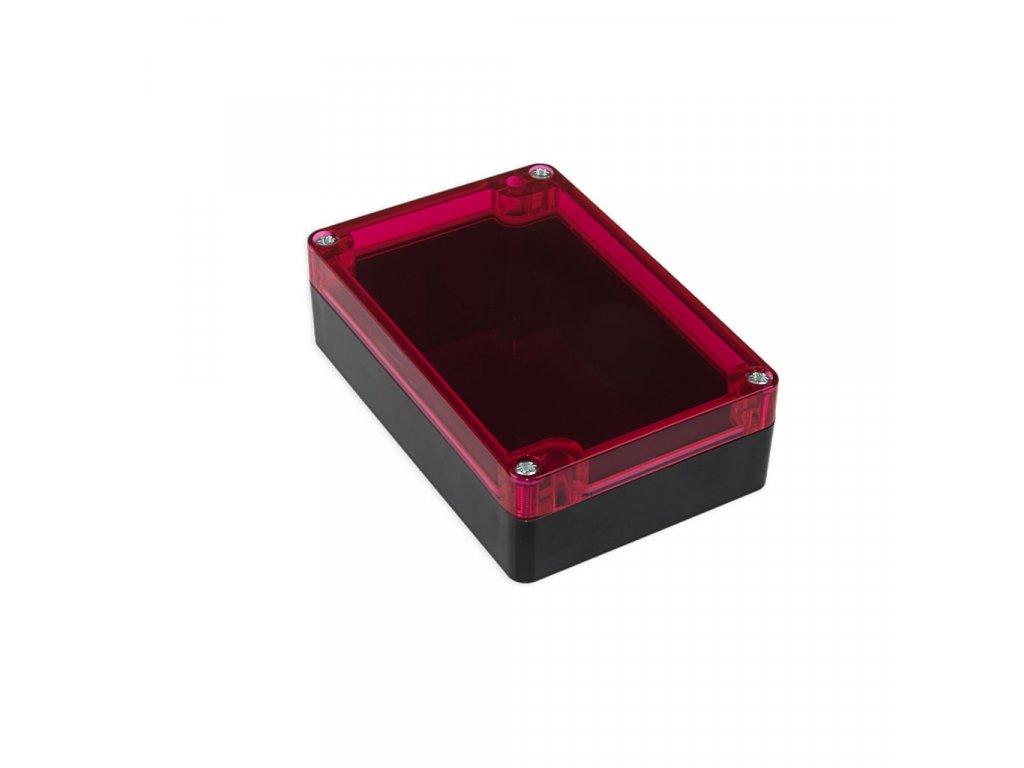 Plastová krabička KM177H TM, černá, červené víko