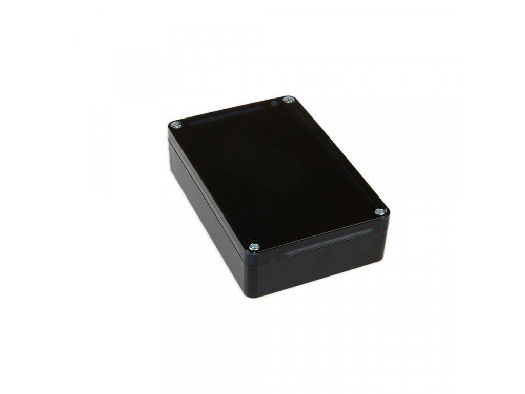 Plastová krabička KM178, černá, kouřové víko