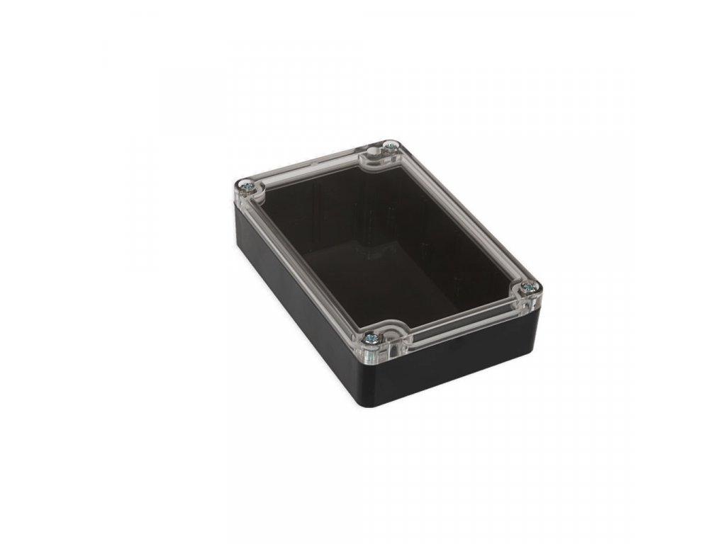 Plastová krabička KM178, černá, průhledné víko
