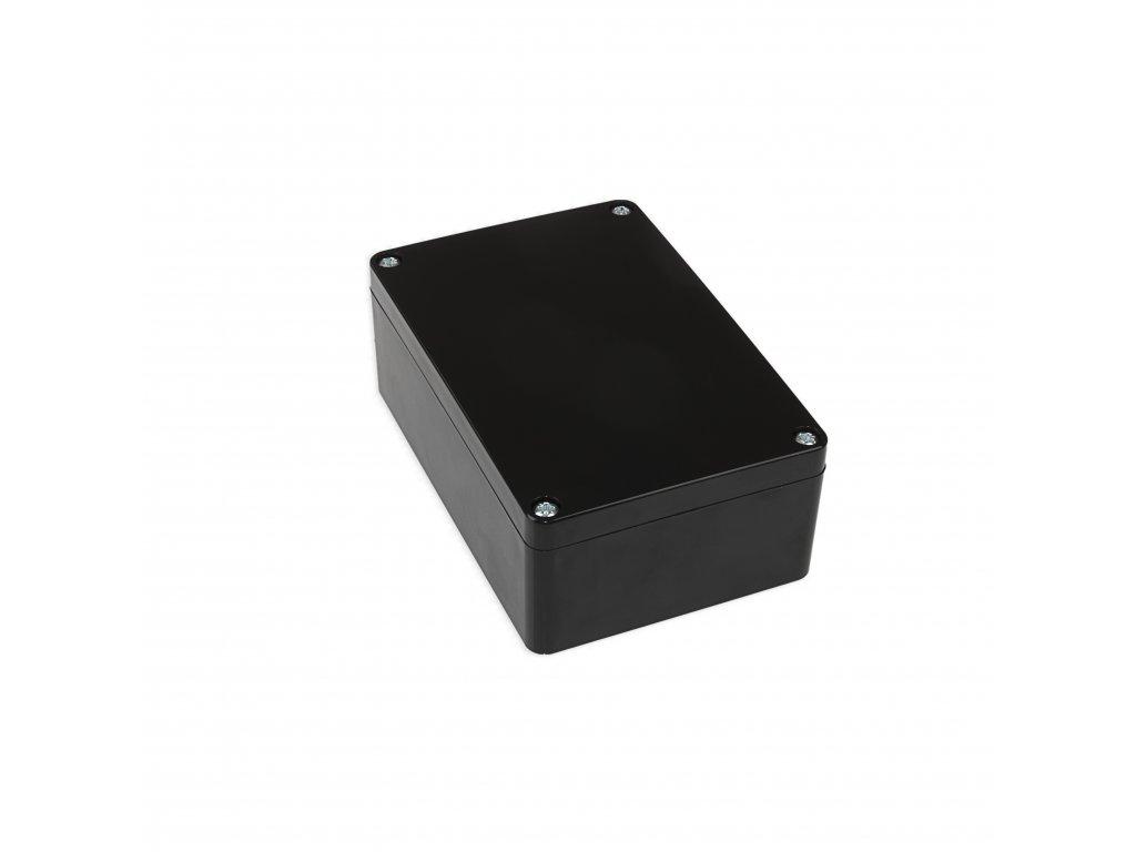 Plastová krabička KM176, černá, kouřové víko