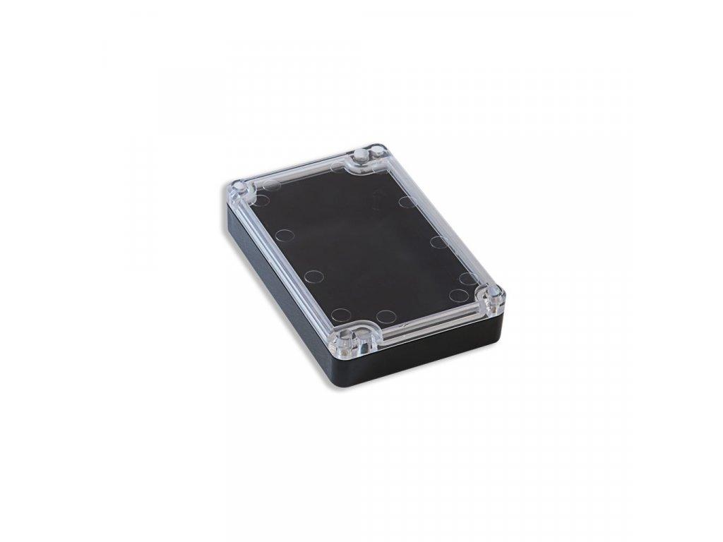 Plastová krabička KM78, černá, průhledné víko