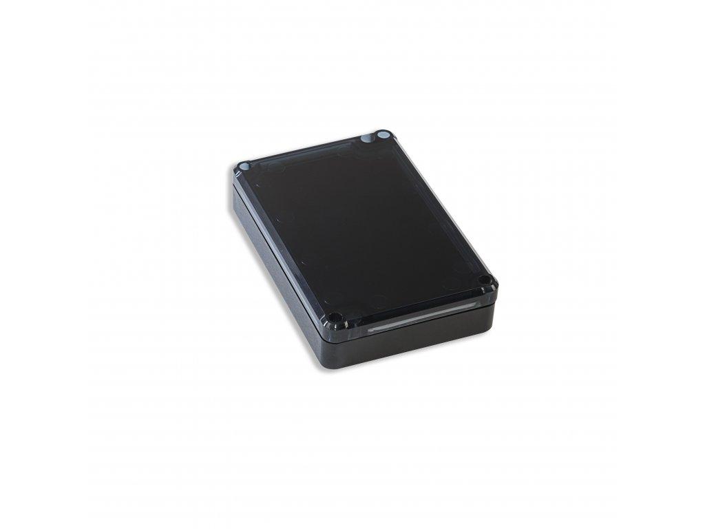 Plastová krabička KM78, černá, kouřové víko
