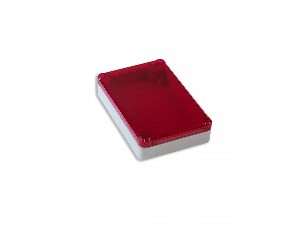 Plastová krabička KM78, šedá, červené víko