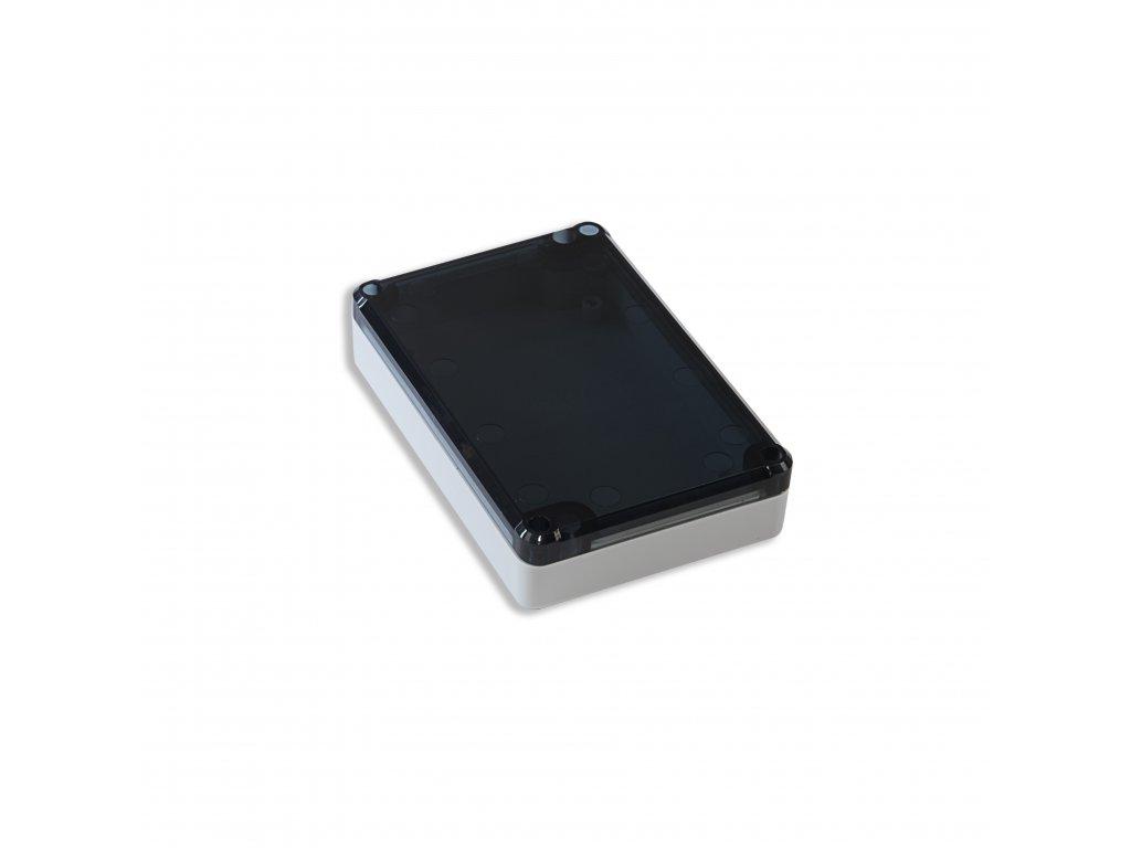 Plastová krabička KM78, šedá, kouřové víko