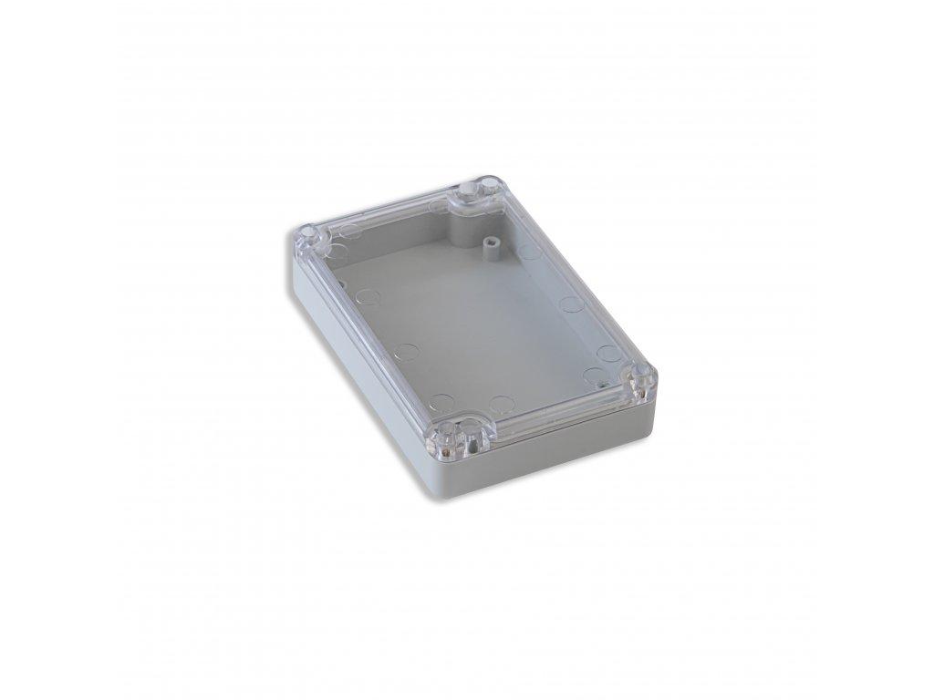 Plastová krabička KM78, šedá, průhledné víko