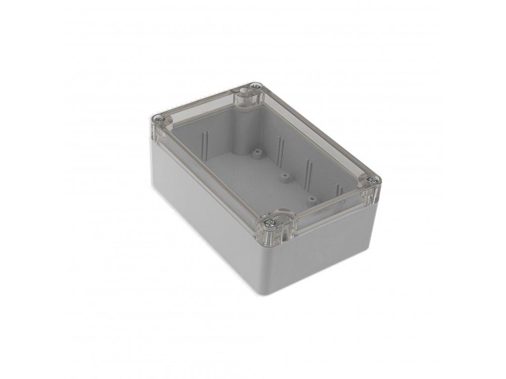 Plastová krabička KM175, šedá, průhledné víko