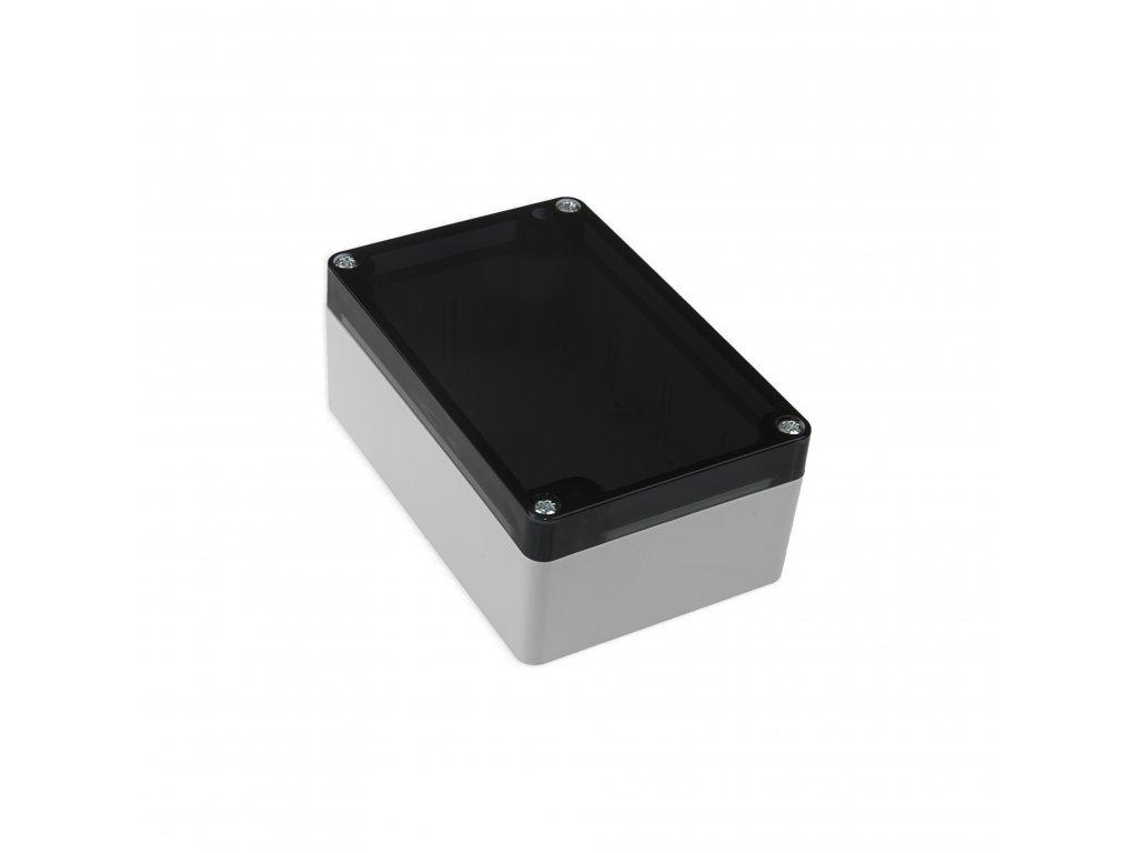 Plastová krabička KM175, šedá, kouřové víko