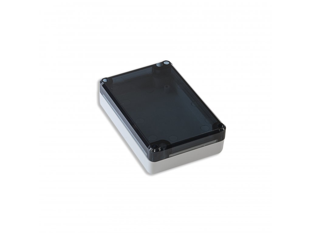 Plastová krabička KM77, šedá, kouřové víko
