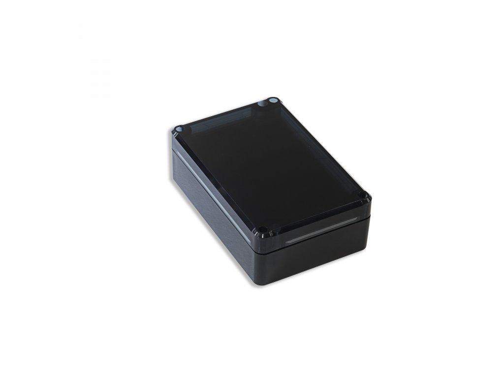 Plastová krabička KM75, černá, kouřové víko