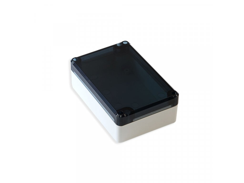 Plastová krabička KM75, šedá, kouřové víko