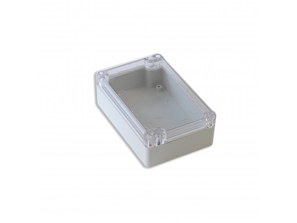 Plastová krabička KM75, šedá, průhledné víko