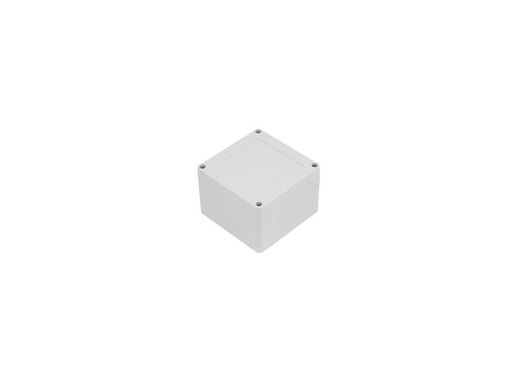 Plastová krabička ZP105.105.75JH TM PC, šedá