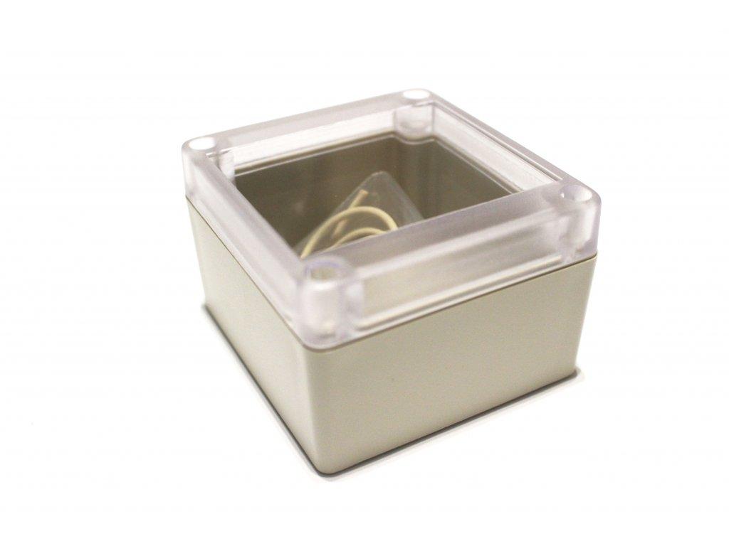 Plastová krabička RP1065C, šedá, průhledné víko