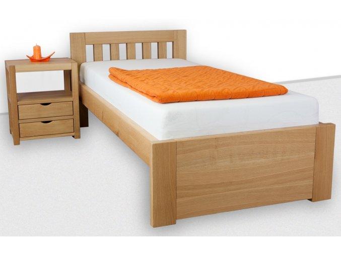 Jednolůžková postel z masivu Clare 120 x 200 cm