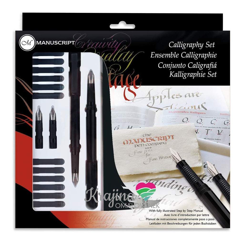 caligraphy set se zápisníkem