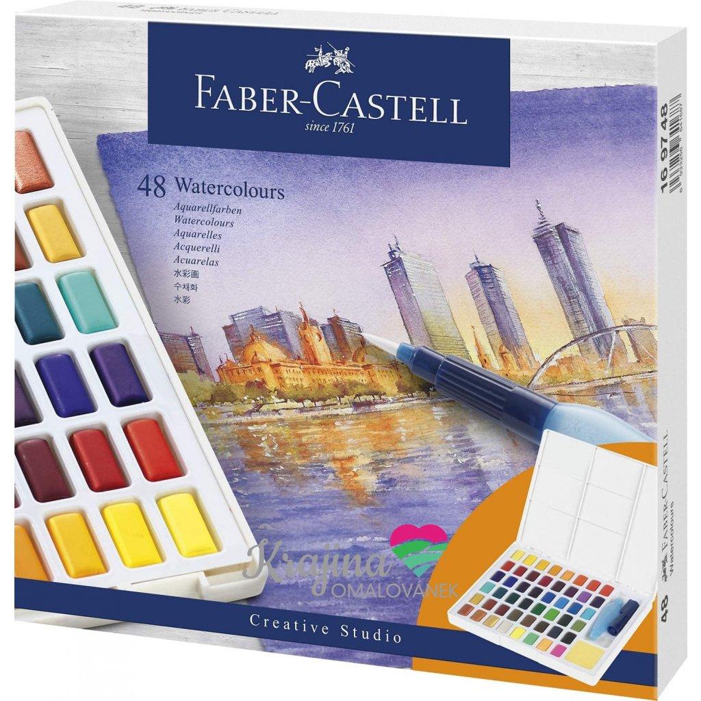 Akvarelové barvy 48 ks