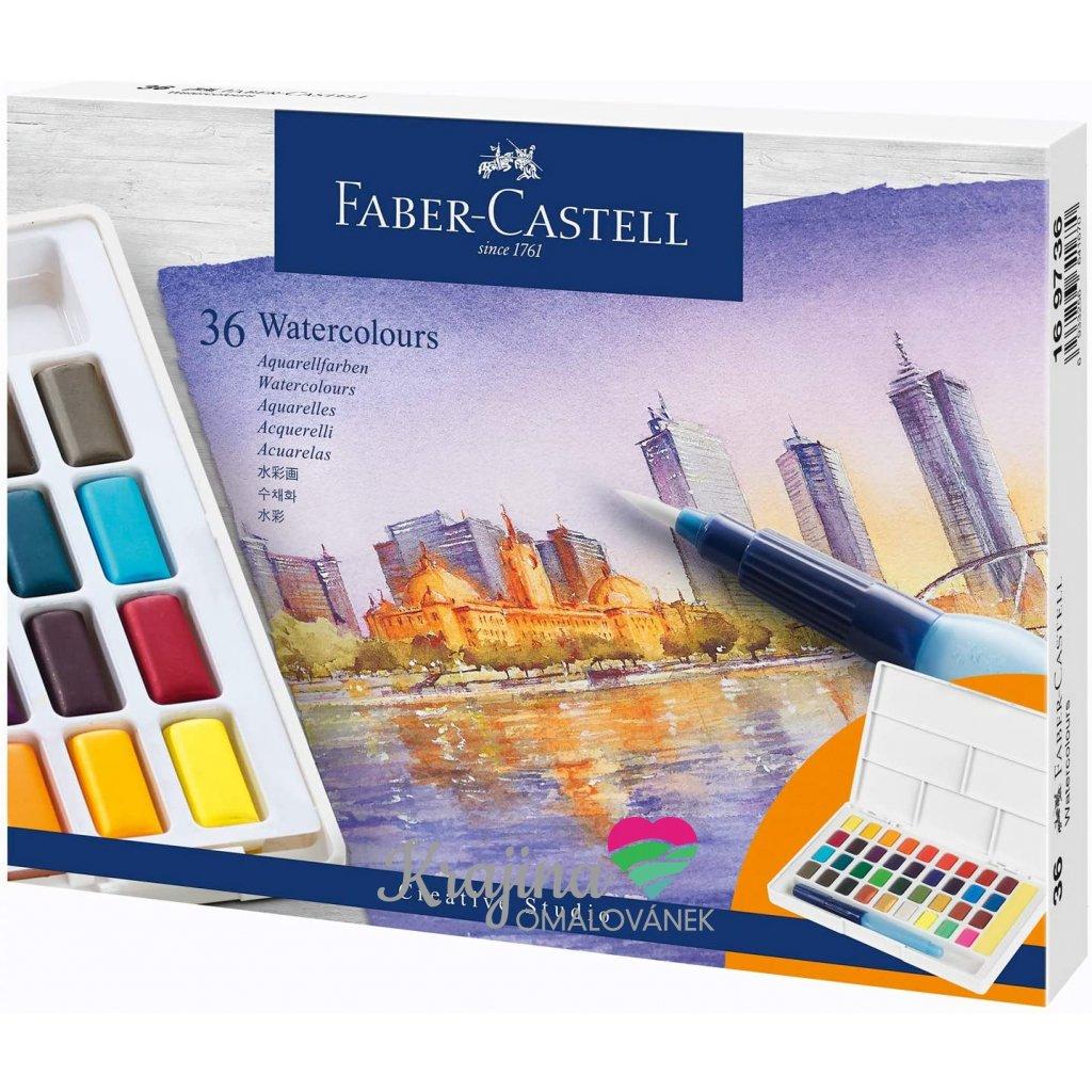 Akvarelové barvy 36 ks