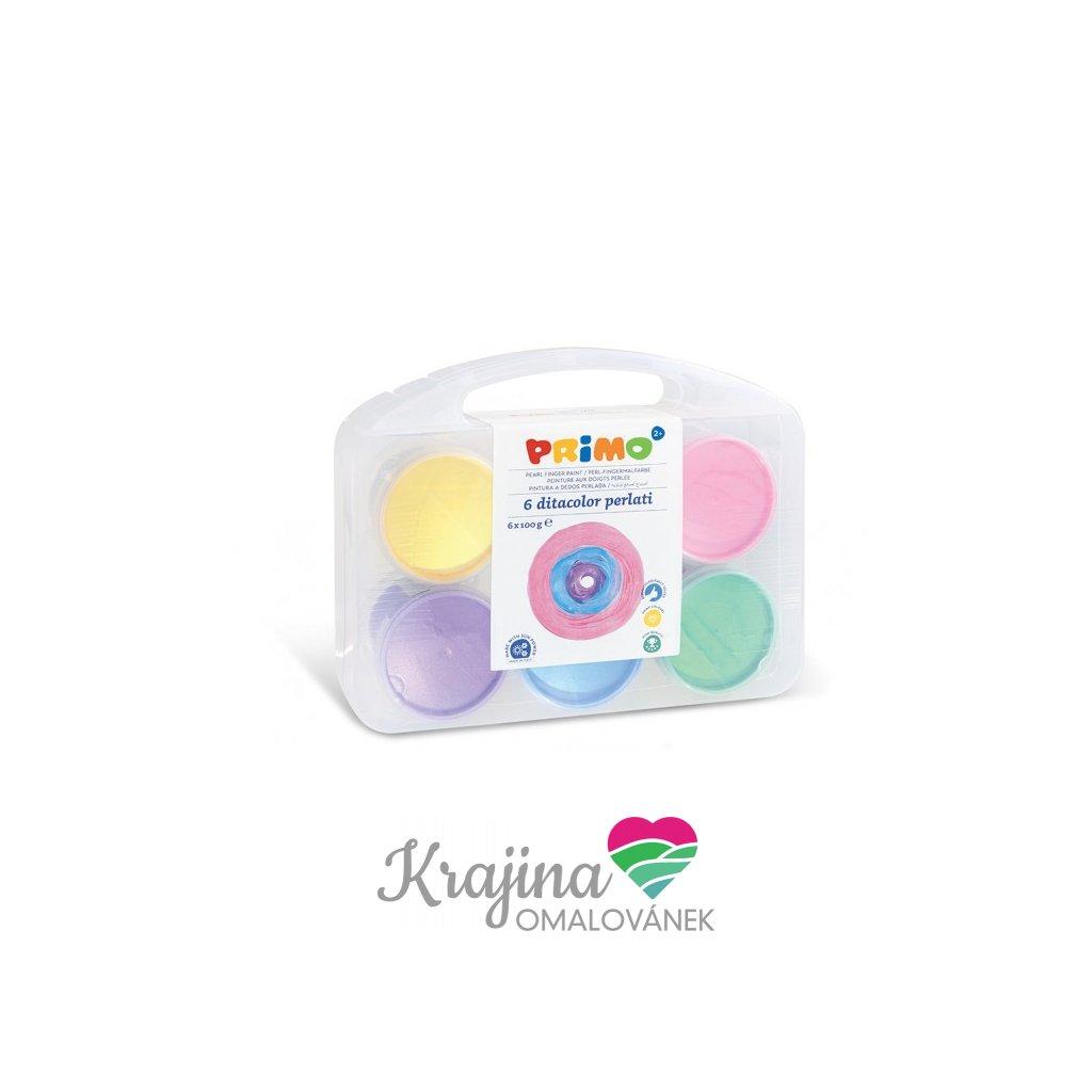 prstové barvy perleťové6ks