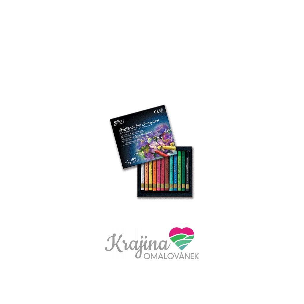 Mungyo, MAC12, Watercolor crayons, sada akvarelových pastelů, 12 ks