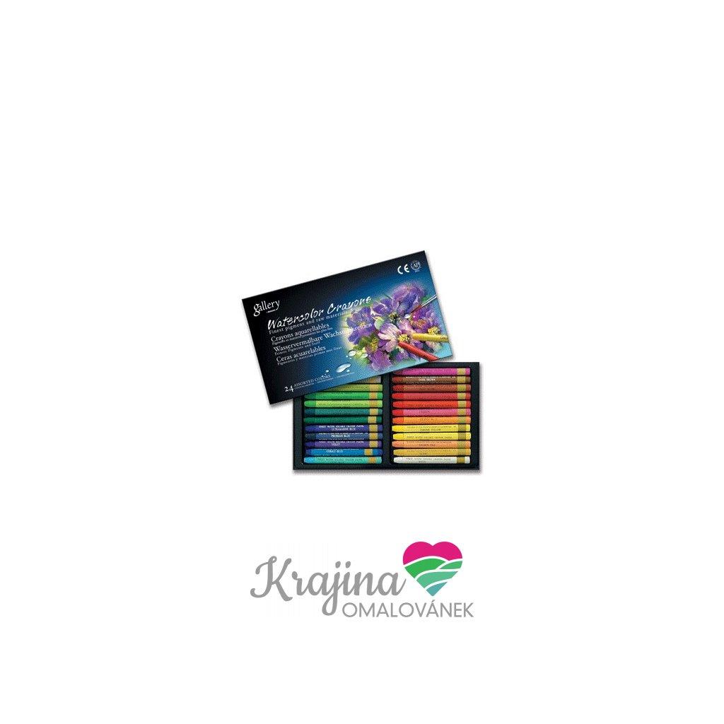 Mungyo, MAC24, Watercolor crayons, sada akvarelových pastelů, 24 ks