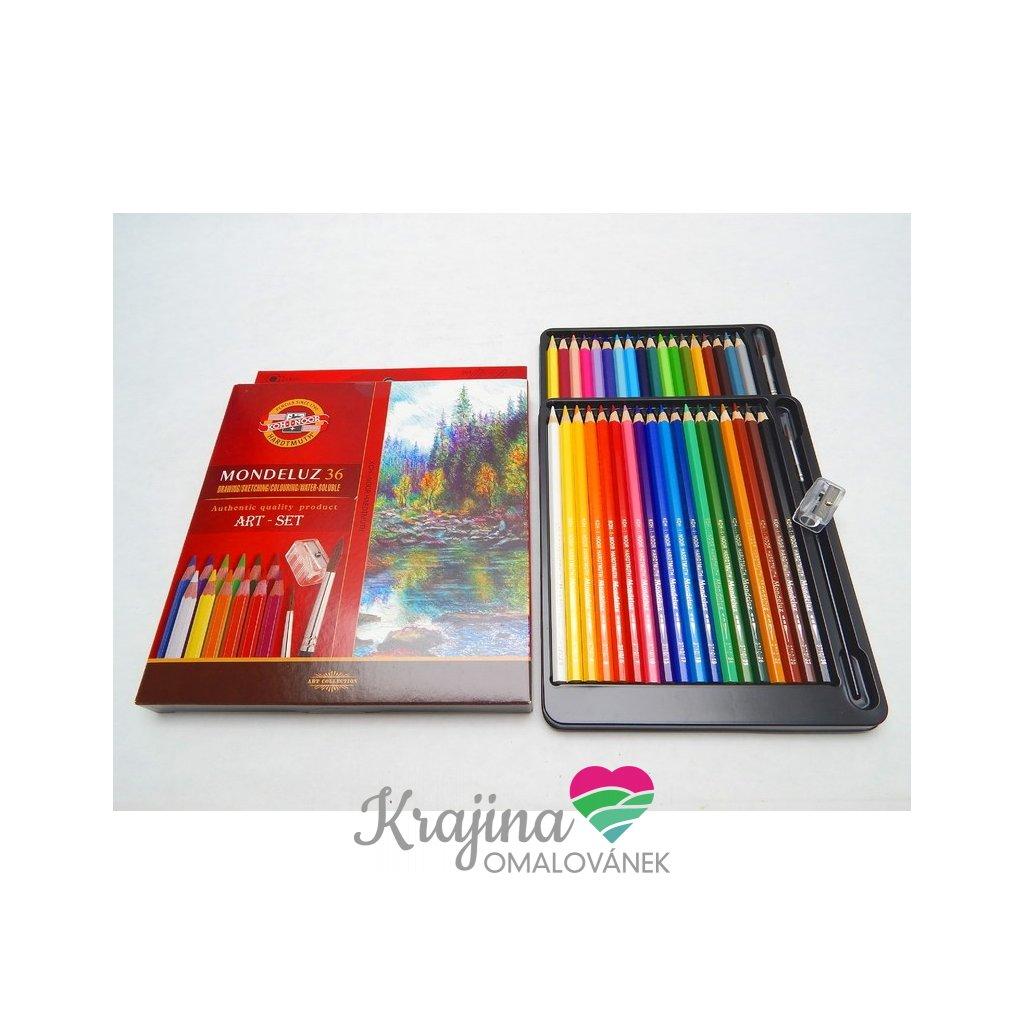 Koh-i-noor, 3712036003KZ, Mondeluz, souprava akvarelových pastelek, 36 ks