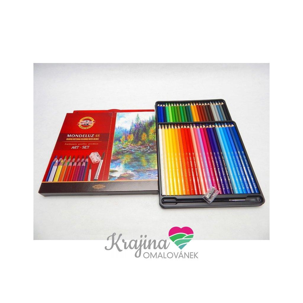 Koh-i-noor, 3713048003KZ, Mondeluz, souprava akvarelových pastelek, 48 ks
