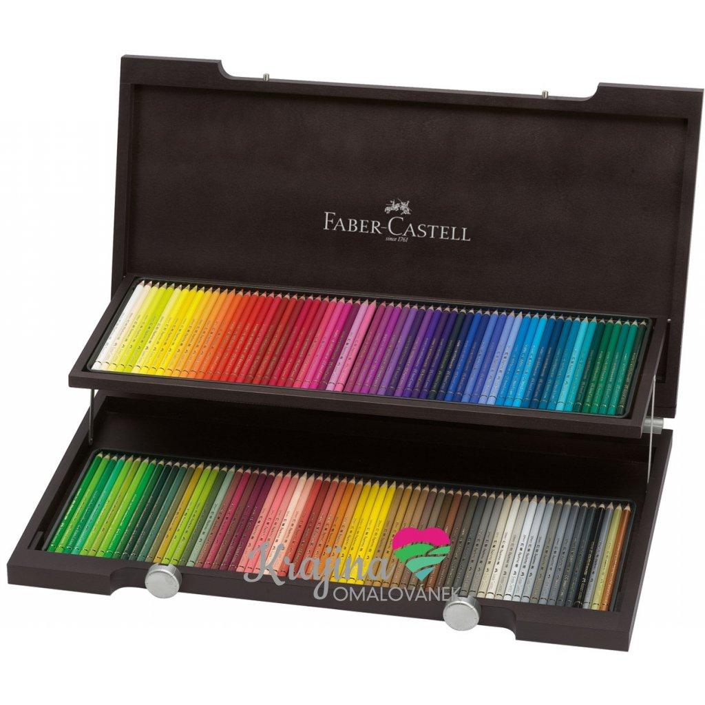 Faber-Castell, 110013, Polychromos, umělecké pastelky nejvyšší kvality, dřevěná kazeta, 120 ks